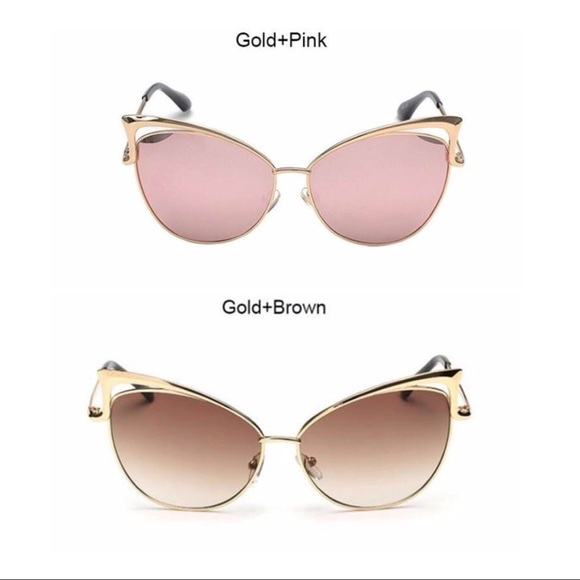 cc1a608aca2a Vintage Cat Eye Sunglasses 😎 two different colors